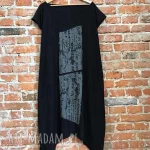 Monotonia czerni sukienki ququ design maxi sukienka, wygodna