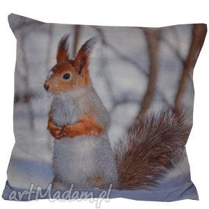 diverso design poduszka dekoracyjna wiewiórka, dekoracyjna, zimowa, świąteczna