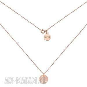 naszyjnik z różowego złota z chropowatym kółeczkiem