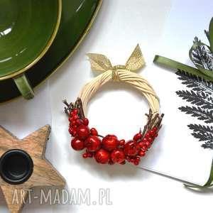 Pomysł na prezent święta! Wianek z jabłuszkami dekoracje wooden