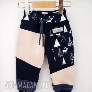 Patch pants spodnie 110 - 152 cm jelonki mimi monster bawełniane