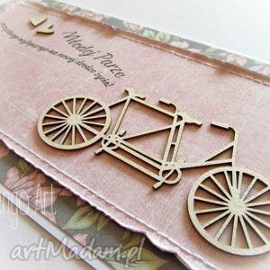 scrapbooking kartki tandem w różu i szarości, tandem, gratulacje, ślubne