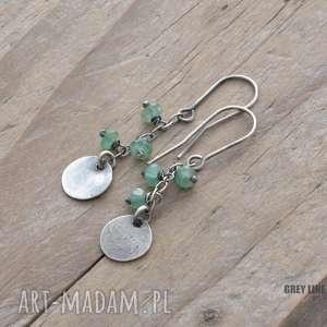Małe szlachetne - szmaragdy, srebro, wiszące