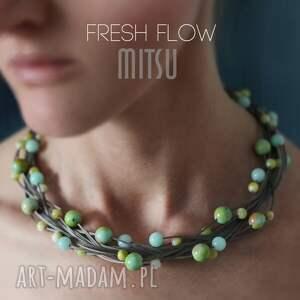 kolia fresh flow - wiosenna, elegancka, naturalne, kolia, prezent
