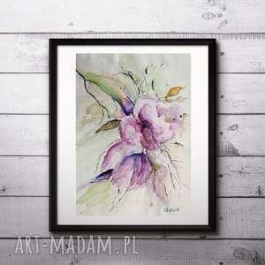 Akwarela- kwiatyII format A4 cm, akwarela, kwiaty