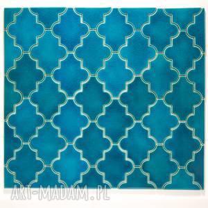 kafle marokańskie turkusowe, kafle, dekory, płytki, marokańskie, ścienne