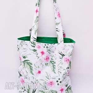 torba na zakupy shopperka ekologiczna zakupowa ramię bawełna dzikie