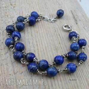 Lapis lazuli - swobodna bransoletka irart bransoletka, srebro,
