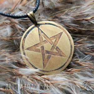 Wisior z trawionego mosiądzu - Pentagram mini, pentagram, pentakl, gwiazda, wisiorek