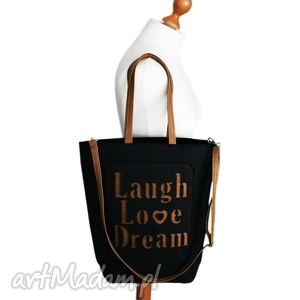 prezent na święta, shopper bag filc, love, dream, filcowa, shopper, torebka