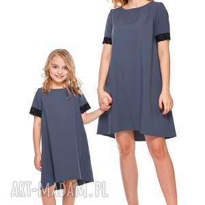 mama i córka trapezowa sukienka z koronką dla córki ld12 1 - koronka