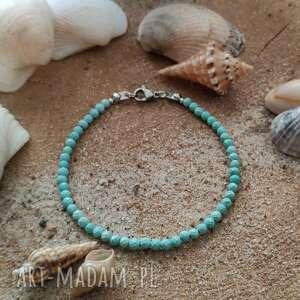 hand-made bransoletka z magnezytem - ocean blue