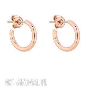 autorskie kolczyki półokrągłe kolczyki m z różowego złota