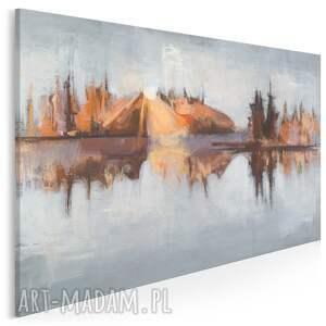 obraz na płótnie - pejzaż natura tafla wody 120x80 cm (703001)