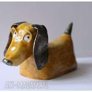 Jamnik, ceramika, pies