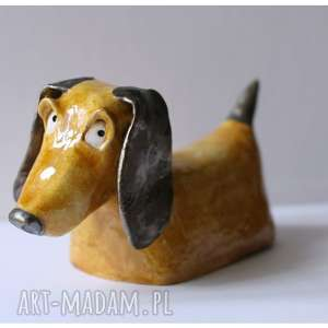 ceramika jamnik, ceramika, pies