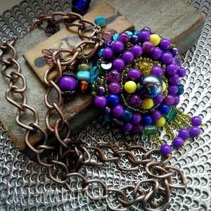 ręcznie robione naszyjniki naszyjnik etniczny haftowany duży boho