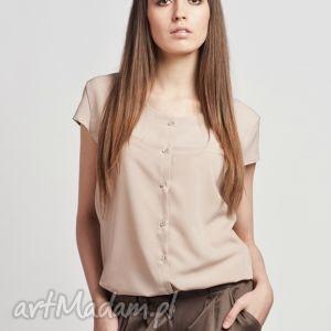 lanti urban fashion koszula z krótkim rękawem, k102 beż, bluzka, koszula, elegancka
