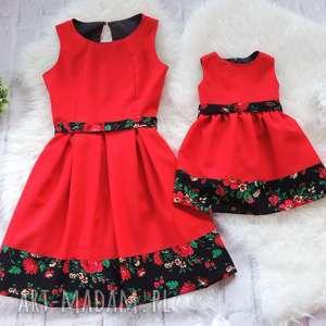 Góralska sukienka dla mamy i córki folkowe cleo, sukienki, mamam, córka, góralskie