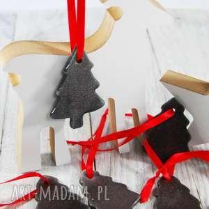 prezent Ceramiczne choinki - zawieszki choinkowe Boże Narodzenie, święta,