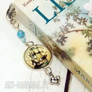 zakładka do książki - morskie podróże, okręt, zakładka, do, książki, morski, morze