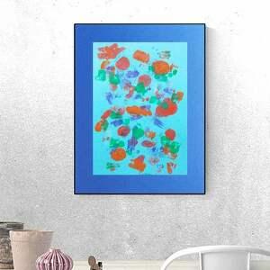abstrakcyjna grafika, abstrakcja ręcznie malowana, nowoczesna design
