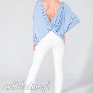 Bluzka 2 w 1 T139 niebieski, bluzka, szeroka, wygodna, fikuśna