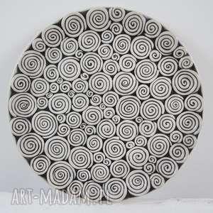 Prezent zakręcona patera ceramiczna, talerz, ceramiczny, dekoracyjny, artystyczny