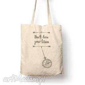 na zakupy torba - your time, torba, bawełna, eco, motywacja, prezent torebki