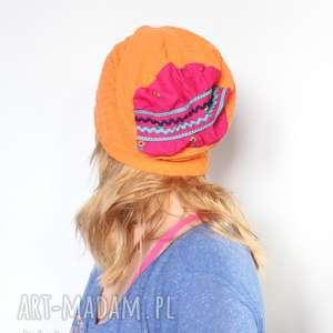 czapki czapka dzianinowa damska folkowa, czapka, sport, chemia