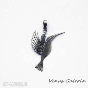 wisiorek - koliberek, biżuteria, srebro, wisiorki, unikalny