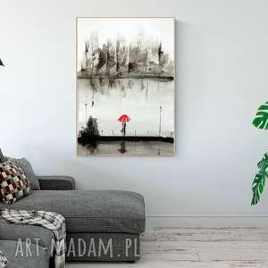 grafika obraz ręcznie malowany, akwarela 70x100 cm, abstrakcja, plakat romantyczny