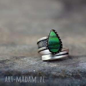 Prezent Pierścień z kamieniem szlachetnym Royal, pierścionek, srebro, ammolit