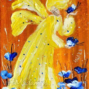 jasny dzień, anioł, słońce, motyle, lato