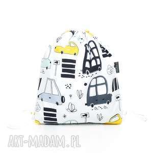 pracownia-milutka plecak worek przedszkolaka autka