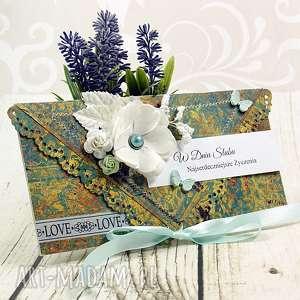 kartka ślubna - kwiaty persji, kartka, ślubna, kopertówka, wesele, ślub, kwiaty