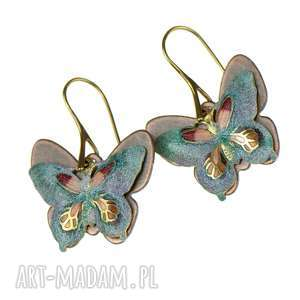 kolczyki z kolorowymi motylami 1 - kolczyki z motylami, kolorowy motyl, biżuteria z