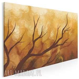 obraz na płótnie - gałęzie pomarańczowy 120x80 cm 64301, drzewo, gałąź