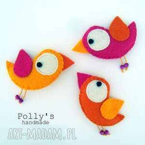 Three little birds-przypinki dla dziecka polly27 broszki