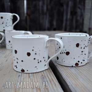 kubek ceramiczny zestaw dla dwojga, ceramika, nakrapiane, kubek, filiżanka