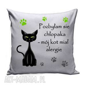poduszka dla kociary - pozbyłam się chłopaka, poduszka, kociara, śmieszne, kot