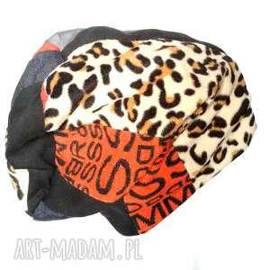 handmade czapki czapka smerfetka długa wzory patchwork chemia