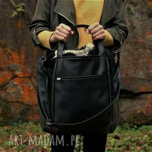 miniks czerń piórka, boho, casual, simple, minimal, torba, torebka