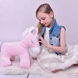 maskotki przytulanka dziecięca koń stojący 2 kolory, poduszka koń, minky