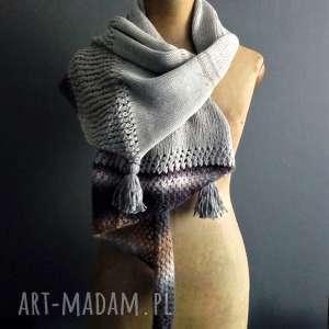 ręcznie wykonane szaliki długi szal