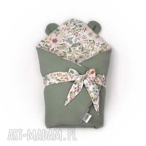 handmade dla dziecka rożek niemowlęcy drobne kwiaty
