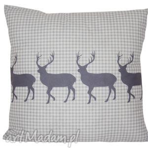 hand-made pomysł na upominek świąteczny poduszka dekoracyjna jelenie