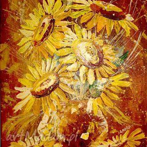obrazy słoneczniki