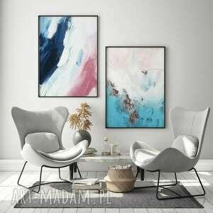 zestaw 2 plakatów abstrakcja #2 a2 - 42x59 4cm, obraz, abstrakcja, salon