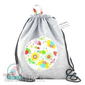 Worek plecak wodoodporny z dresu pszczółki, worek, plecak, wodoodporny, przedszkole